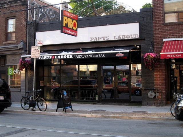 part and labour restaurant